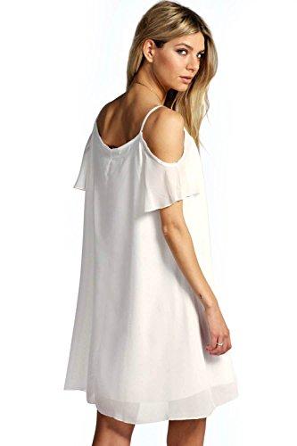 Schwarz Arrabella Ausgestelltes Kleid Aus Webmaterial Mit Freier Schulter Schwarz