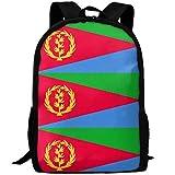 Eritrea Flag Zaino da viaggio per adulti Zaino da scuola Casual Zaino Oxford Borsa per laptop all'aperto Borse per computer a spalla