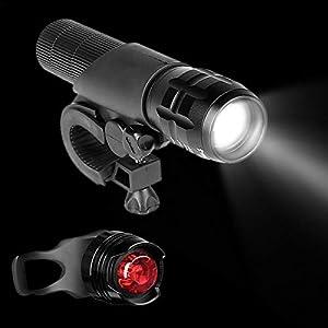 412h7pCLAtL. SS300 Starter set bicicletta luce LED, luce LED fanale anteriore e posteriore per bicicletta campeggio e l' uso quotidiano…