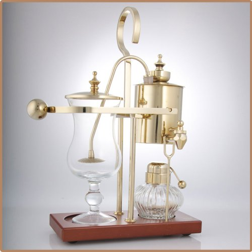 Royal Vienna Balance Coffee Master Gold Elegant 19th Century Belgium Style Luxury Balance Syphon Coffee Machine / Maker Capacity: 500ml / 17 oz. 3-5 Cups S4U®