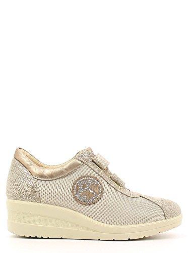 ENVAL , Chaussures de ville à lacets pour femme Gris - Platino
