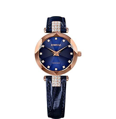 Jowissa Facet Strass Swiss J5.626.S - Reloj de Pulsera para Mujer, Color Azul y Rosa