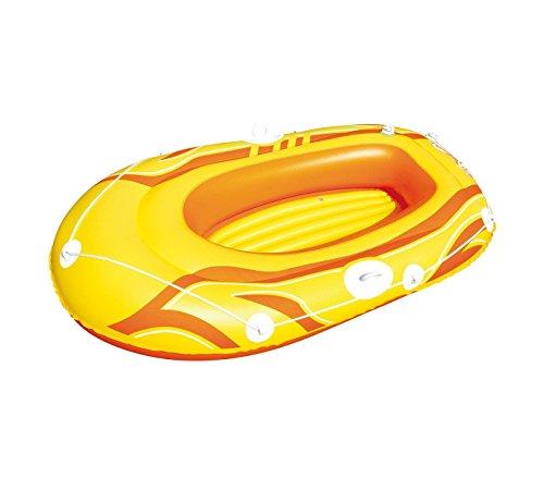 Bestway 61050 canotto gonfiabile colore giallo 155 x 93 cm per bambini e adulti. mws