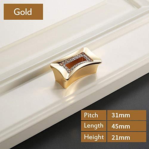 Luxus Gold Tschechische Kristall Schranktürgriff und Möbel Schrank Kleiderschrank Schubladengriff @ Z-1834 -