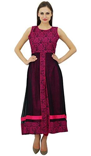 bimba-robe-de-soiree-le-kurti-marron-coton-kurta-chic-vetements-des-femmes