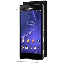Protector de pantalla Cristal templado para Sony Xperia T3 Calidad HD, Grosor 0,3mm, Bordes redondeados 2,5D, alta resistencia a golpes 9H. No deja burbujas en la colocación (Incluye instrucciones y soporte en Español)