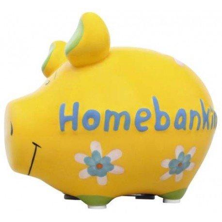 KCG Spardose Schwein Homebanking Keramik klein