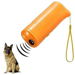 WIRSV LED à ultrasons Répulsif pour Chien, 3en 1à ultrasons pour Animal Domestique Répulsif Anti aboiement Stop Barking Dog Training Contrôle Répulsif à Trainer