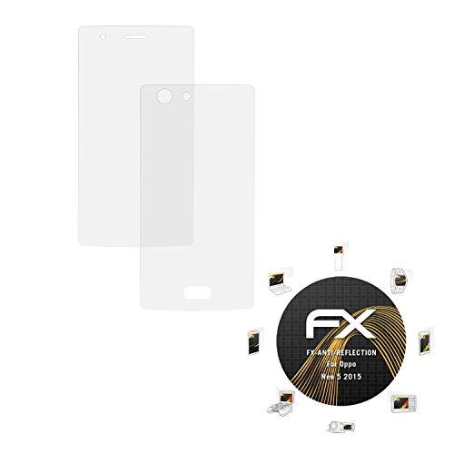 atFolix Panzerfolie kompatibel mit Oppo Neo 5 2015 Schutzfolie, entspiegelnde & stoßdämpfende FX Folie (3er Set)