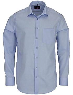 SEIDENSTICKER Modern Hemd extra langer Arm Struktur hellblau AL 70