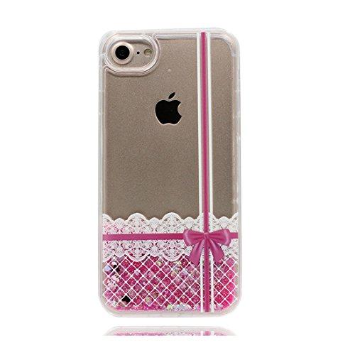 iPhone 6S Plus Custodia, Case iPhone 6 Plus /6s Plus Copertura 5.5, TPU Liquido Floweing Bing Bling Nuoto Brillante Cover, Shock Graffi Prova di polvere [ Cartoon Rainbow Stripe ] Color 2
