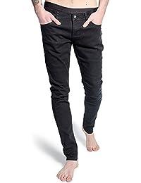 Pantalón pitillo de hombre de Criminal Damage modelo Skeleton Hands (Negro/Blanco)
