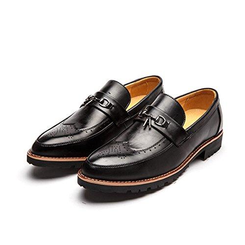 Chaussures à bout pointu à lacets noires Casual homme b5GLjm7SOa