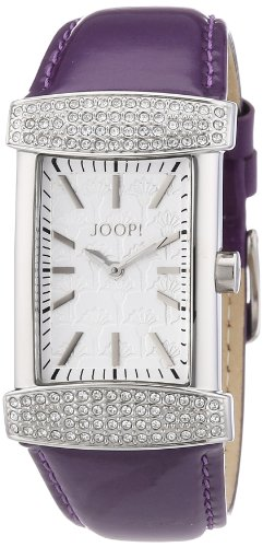 Joop Women's Quartz Watch with Silver Glam Analogue Quartz Leather JP100552 °F06