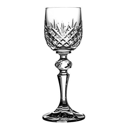 Crystal Julia 2926 de copas de licor de vasos de cristal de plomo, 6 p