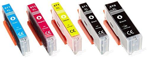 5x Sostituzione per PGI-570XL CLI-571XL Compatibile Cartucce d'inchiostro con Canon pixma MG5750 MG5700 MG7700 MG7752 MG7753 TS6150 TS5050 TS6050