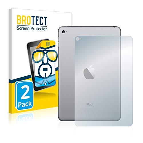BROTECT Schutzfolie kompatibel mit Apple iPad Mini 4 (Rückseite) [2er Pack] - kristall-klare Bildschirmschutz-Folie, Anti-Fingerprint