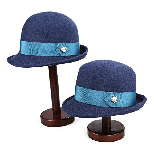 Cappellini personalizzati ricamati cappellini da donna moda calda lana da viaggio invernale testa e madre misto blu scuro mixm regolabile