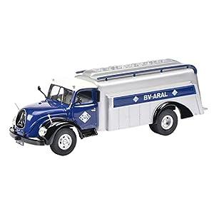 Schuco Dickie 450303900-MAGIRUS tankwagen S6500Aral 1: 43, Color Azul/Plata