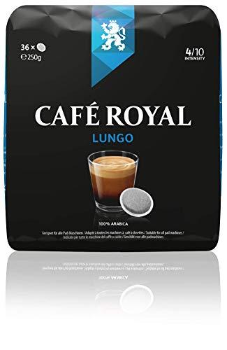 Café Royal Dosettes de café Lungo, compatibles Senseo*, Intensité 4/10, 180 Dosettes Souples (Lot de 5X36)