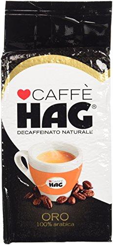 Hag Caffè, Decaffeinato Naturale, Aroma Oro, 100% Arabica,  250 gr.