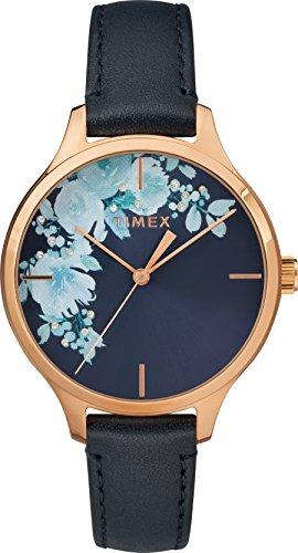 Timex Reloj Analógico para Unisex Adultos de Automático con Correa en Cuero TW2R66700