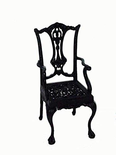 Deko Seggiolone per bambole bambole mobili sedia nostalgia 22,5x 20,5x 44cm NERO