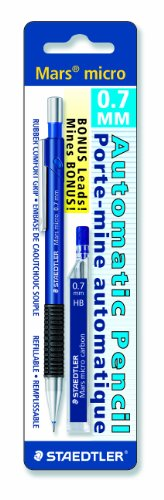 Staedtler Mars Micro 0.7mm Mechanical Pencil with 12 Lead Refills  available at amazon for Rs.349