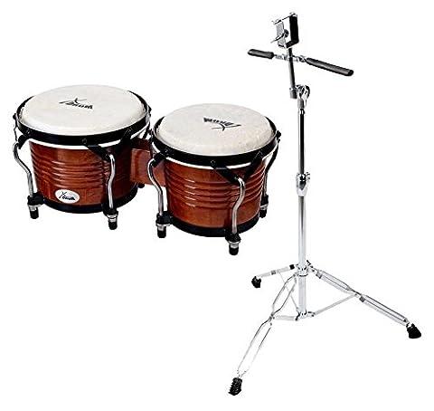 XDrum Bongo Pro Tobacco Sunburst SET incl. pied de bongos