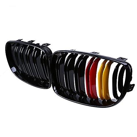 Possbay 2x avant de voiture de remplacement Kindey Grill Grille pour BMW Série 1E81E872004–2011avant rénovation Facelift