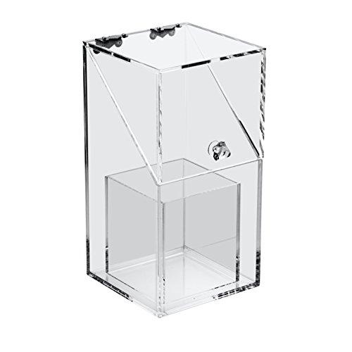 Boxalls Organizzatore Trasparente in Acrilico Trucchi Spazzola con Porta Spazzola Alex