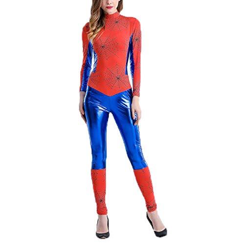 POIUYT Frau Comics Körper Eisen Spider Man Strumpfhosen Anime Kostüm Halloween Hero Superman Show 3D Avengers Party Kostüm Kostüm,Red-M