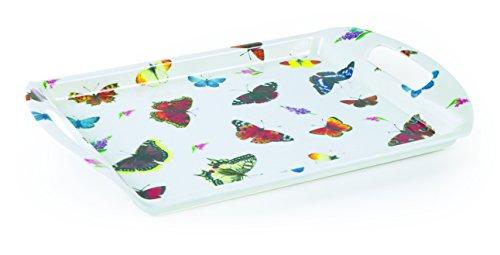 Roy Kirkham Co Butterfly Garden Melamin Tablett, Mehrfarbig, klein - Butterfly Garden Tray