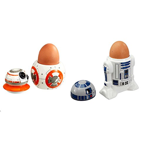 Offizielle Star Wars R2-D2 & BB-8 Keramik Eierbecher Set - Boxed