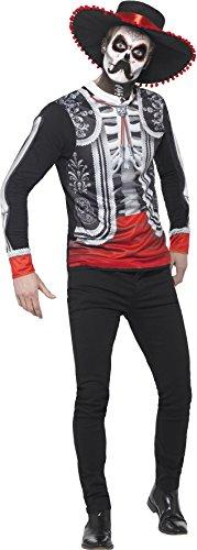 Smiffy's 44933M - Herren Tag der Toten El Senor Kostüm, Größe: M, (Kostüm Mariachi)