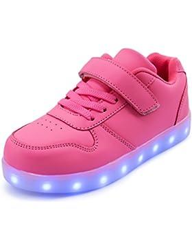 bfe9987328df AFFINEST Led Con Luci Sneakers Bright Light USB 7 Colori Bambino Scarpe  Lampeggiante bambini ragazzi ragazze
