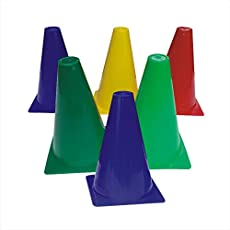 KITSAWS Sports Plastic Marker Cone 6 INCH Pack of 12 PCS