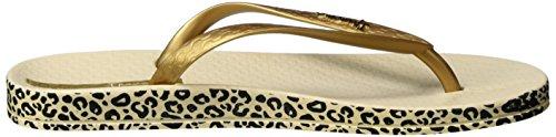 Ipanema Damen Anatomica Soft Zehentrenner Mehrfarbig (beige/gold)