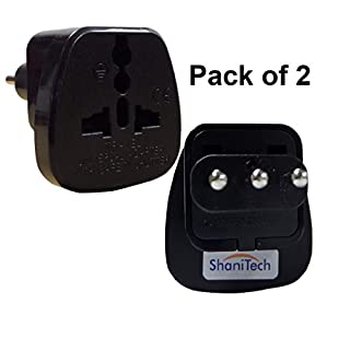 ShaniTech Pack of 2 Type L Travel Adapter Adaptor AC Power Plug Converter AC Socket For Italy Uruguay Norm San Marino (Qty. 2)