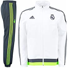 adidas Real PR Suit CH - Chándal para hombre, color blanco / gris / lima, talla S