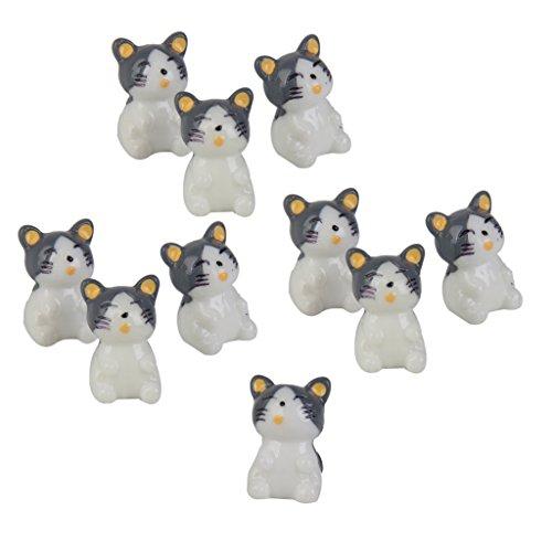 10pcs Dollhouse Casa De Muñecas Miniatura Gatos Decoración Bonsai Mi
