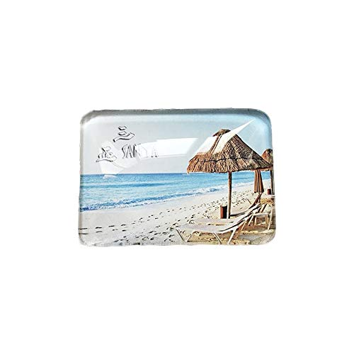 3D Sanya Yalong Bay China Kühlschrank Kühlschrankmagnet Kristallglas Handgefertigte Tourist Travel Souvenir Sammlung Geschenk Whiteboard Magnetic Sticker Home Decoration