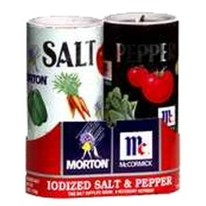 Mortons Salt, Mccormick Pepper Pack, 5.25-ounce Shakers by Morton