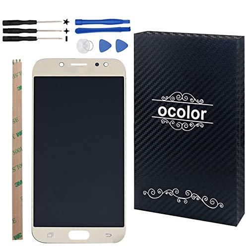 Ocolor di riparazione e sostituzione per Samsung Galaxy J5 (2017) J530 SM-J530F LCD Display + Touch Screen Digitizer con Utensili Inclusi (d'oro)