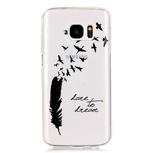 ANNN® Samsung Galaxy S5 Silicone Case TPU Cover - Etui de Protection Cas en caoutchouc en Ultra Slim Souple Gel TPU Bumper Cas Case + Quill stylet + Pendentif poisson---B12 A10