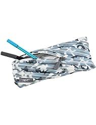 Wedo 2425165903Trousse Scolaire Camouflage en polyester fermeture éclair, 22x 2x 9cm, bleu
