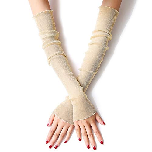 Tag Hash Kostüm - Shengjuanfeng Blumen Bogen Spitze Handschuhe Frauen Braut Hochzeit Handschuhe Party Fancy Costumes, Sonnenschutzhandschuhe, Armschutz (Color : Metallic)