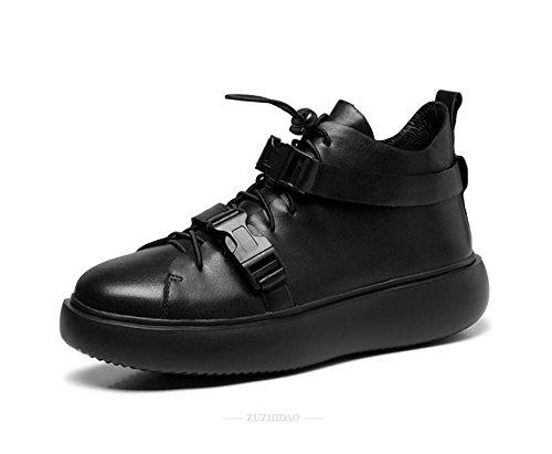 occasionnels haut-dessus à fond épais jeunes zipper automne et hiver bottes chaussures d'Angleterre respirant hommes