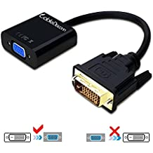 CableDeconn Active DVI-D Link 24 1 maschio a femmina VGA M/F con cavo e adattatore Convertitore Video