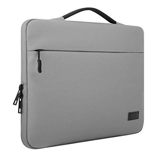MoKo Compatible con 13-13.3 Inch Laptop, Funda de Protector Bolso de Oxford Suave Cubierta para 13.3' MacBook Air/MacBook Pro 13 2018, Surface Book 13.5', 13' Acer Ausu DELL HP Lenovo - Gris